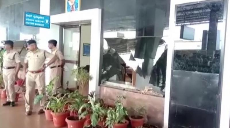 The blast occurred when he picked an unclaimed parcel at the station, a major junction where headquarters of the South Western Railway Zone is located.  (Photo: ANI)