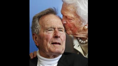 Former president George H.W. Bush died at the age of 94 on Friday, Nov. 30, 2018, about eight months after the death of his wife, Barbara Bush. (Photos: AP)