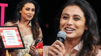 Rani Mukerji was honoured with the 'Pride of Bengal' award at an event in Kolkata on Tuesday. (Photo: PTI/Twitter)