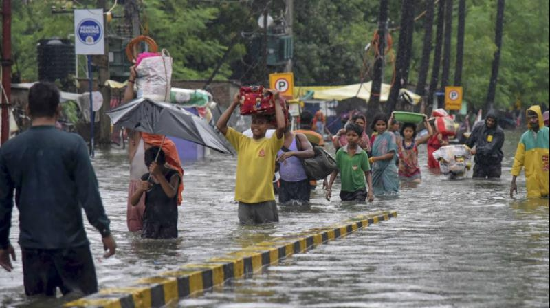 The relentless rains that took place between September 27 and 30 have left parts of the state in a dire condition with the death toll touching 55. (Photo: PTI)