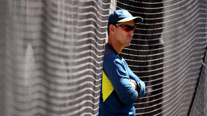 Justin Langer was full of praise for Nathan Lyon who has taken 16 wickets in two Tests, and has been a pivotal member of the attack. (Photo: AFP)