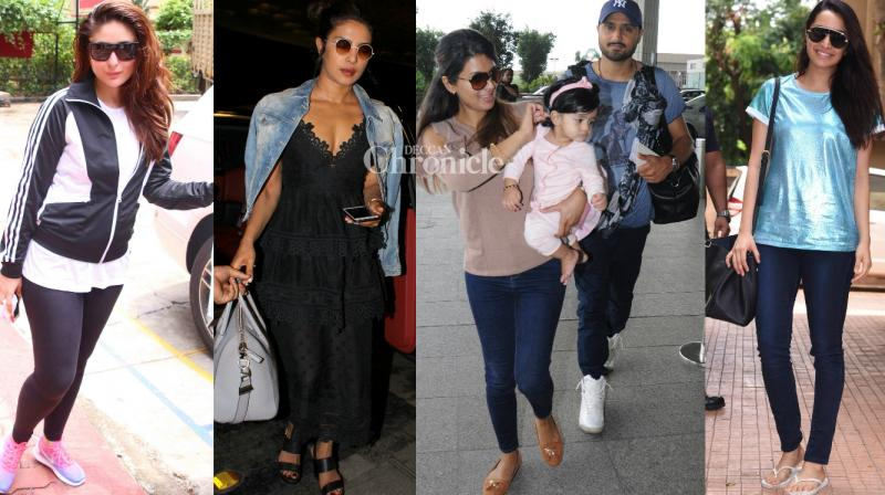 Bollywood stars gave paparazzi a busy day on Monday as they stepped out at various places in Mumbai. (Photo: Viral Bhayani)