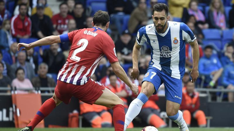 The Catalans' top scorer Borja Iglesias doubled the home side's lead early in the second half as they again pounced on the counterattack after an Atletico giveaway, with the striker calmly tucking the ball past Jan Oblak from inside the box. (Photo: AFP)