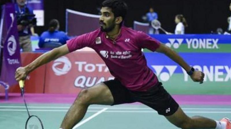 Srikanth had emerged as India's best bet at the tournament after he clinched back-to-back titles at Indonesia and Australia and a final finish at the Singapore Open. (Photo: AFP)