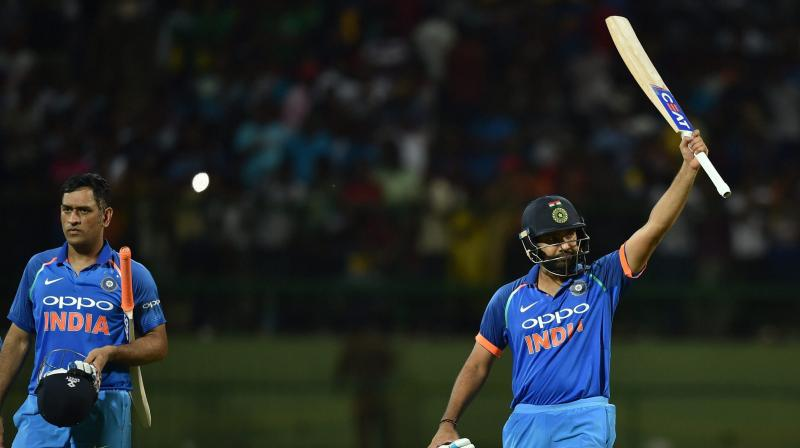 Rohit Sharma and MS Dhoni's unbeaten 157-run partnership ensured victory for Team India in third ODI. (Photo: AP)