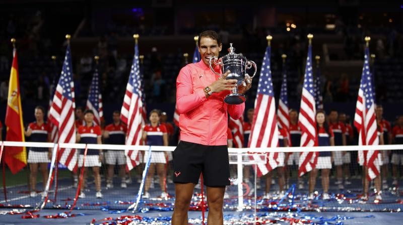 Nadal the champion also in New York in 2010 and 2013, added the US title to the record 10th French Open he captured in June. (Photo:AP)