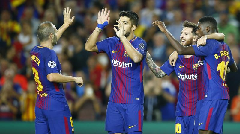 The result gave Barcelona revenge for their defeat to Juventus in last season's quarter-finals and leaves them on top of Group D alongside Sporting Lisbon. (Photo:AP)