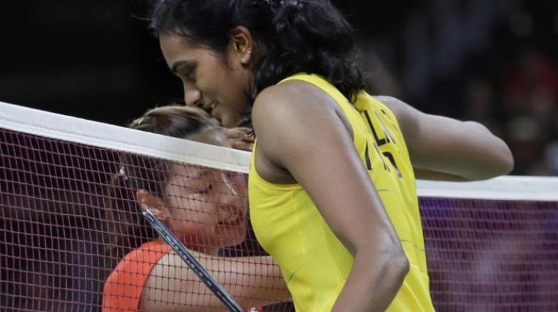 Sunday's final between Sindhu and Okuhara will be a rematch of the recently concluded World Championships gold medal match and the Indian will be looking to avenge her loss. (Photo:AP)