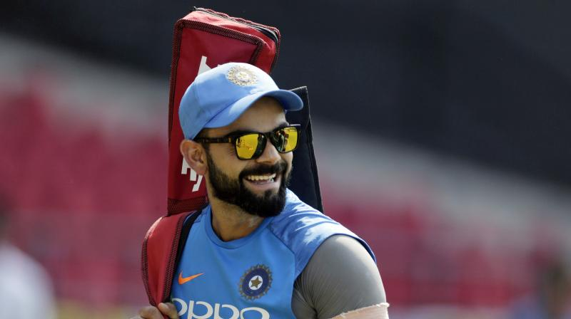 Kohli posted 15 second video on his official twitter handle to wish the Indian colts before their maiden appearence. (Photo:AP)