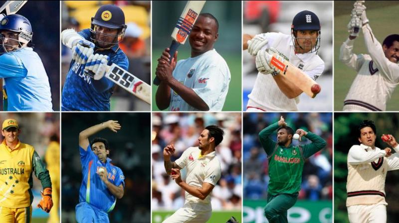 The fans questioned the exclusion of players like Sanath Jayasuriya, David Warner, Yuvraj Singh and Saeed Anwar from the collage. (Photo: Twitter/ICC)