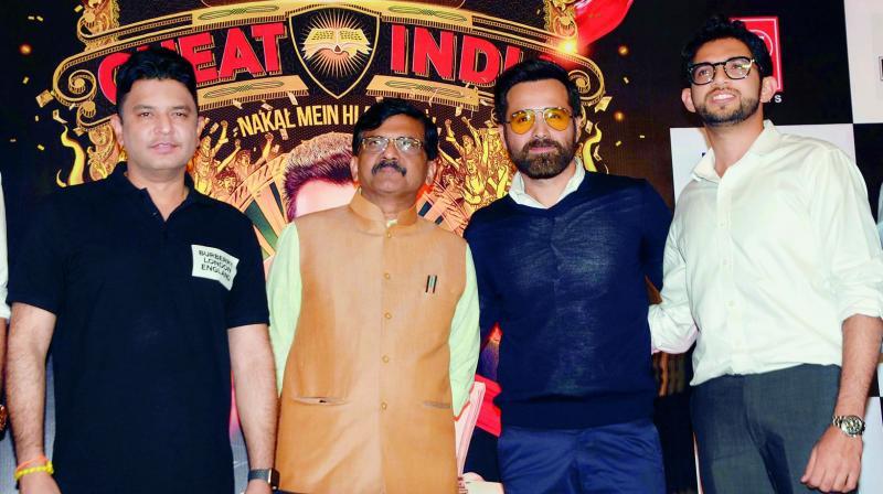 Bhushan Kumar, Sanjay Raut, Emraan Hashmi and Aditya Thackeray