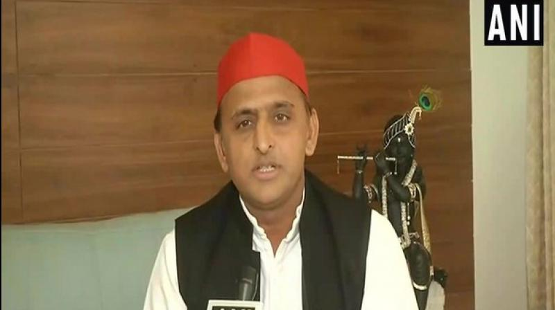 'I studied engineering in Mysore. As a science student, I know that all experiments do not always succeed. But still we give it a trial and learn what is lacking,' said Akhilesh while talking to reporters in Lucknow. (Photo: ANI)