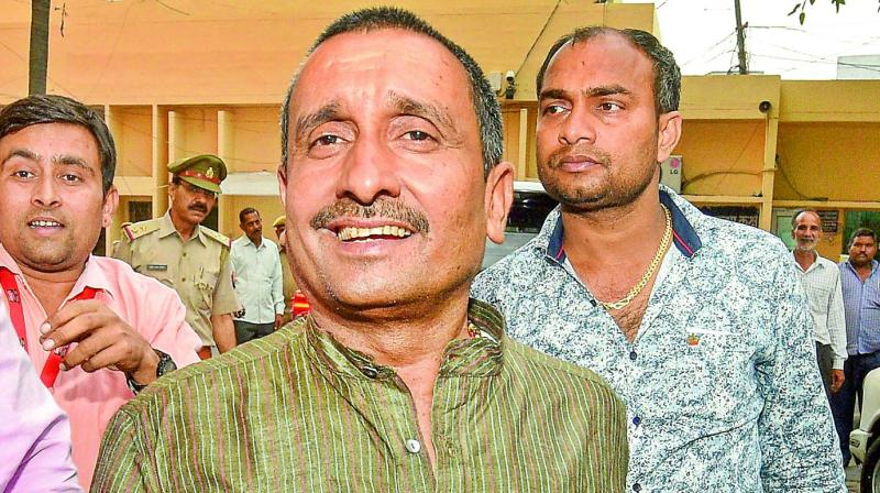 Kuldeep Singh Sengar has also been named in the case pertaining to the death of the survivor's father.  The lawmaker had allegedly raped the girl, a minor at that time, at his resi  (Photo: File)