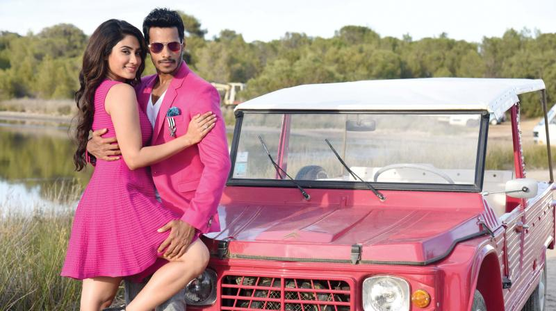 Nikhil Gowda and Deepa Sati in a scene from Jaguar