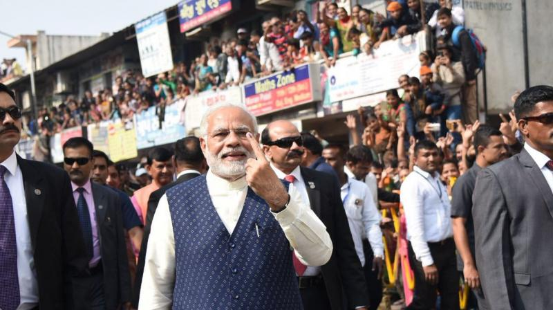 Gujarat Poll: PM Modi casts vote in Ahmedabad
