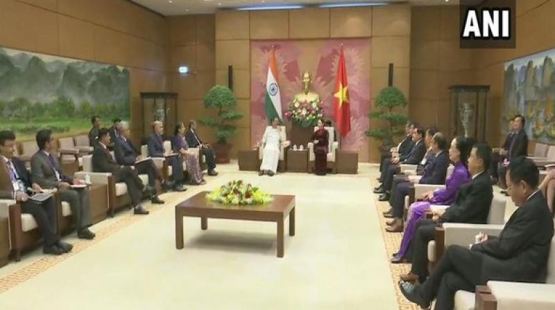 'Our discussions covered the whole range of bilateral and multilateral cooperation,' Naid, who is on a four-day visit to Vietnam said. (Photo: ANI)