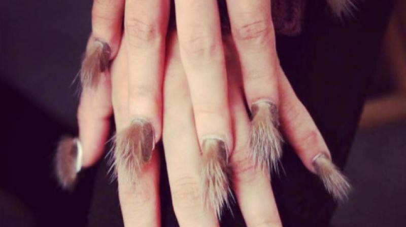 Furry nails. (Photo: Instagram / sylvie_winryskye)
