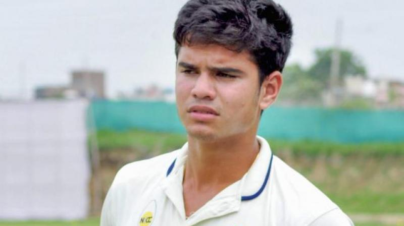 Arjun also scalped his second wicket of the match by dismissing lower-order batsman BBA Geddes. (Photo: PTI)