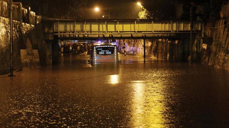 Cars and two-wheelers in the basement of apartments in low-lying areas were submerged. (Representational Image)