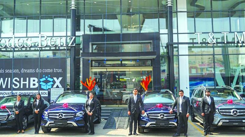 Dhanteras at Mercedes-Benz dealer T&T Motors in New Delhi.