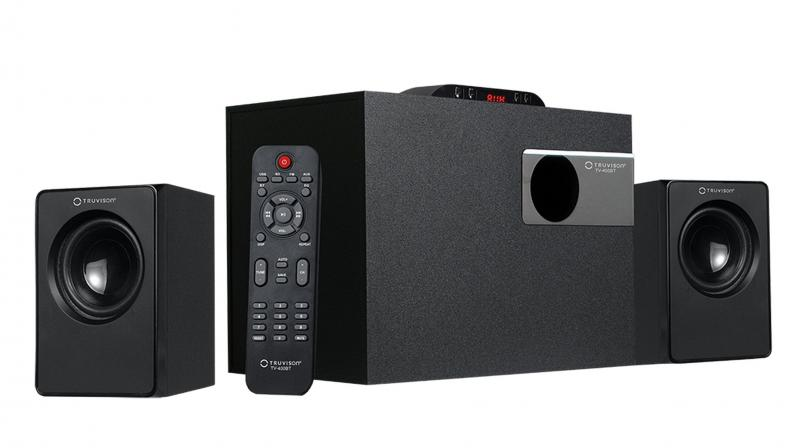 The 2.1 speaker sports 20 Watts RMS audio output with a 4-inch bass driver for its subwoofer.