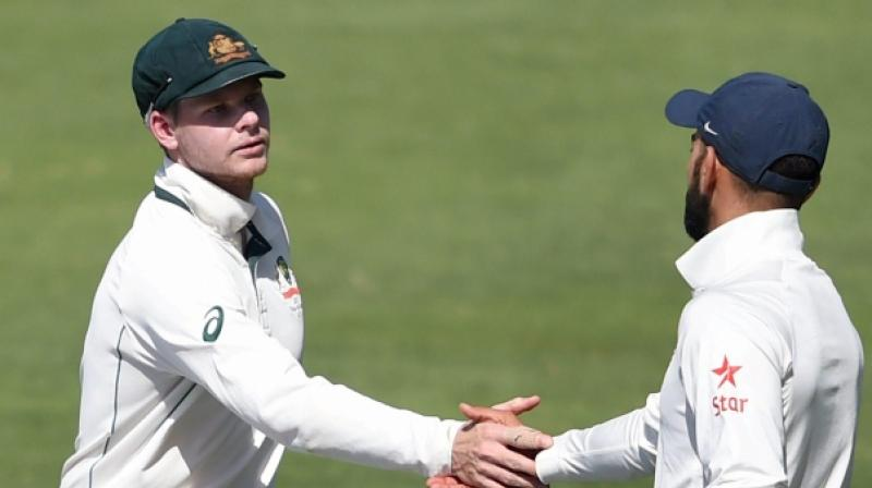 Virat Kohli and Steve Smith will be expected to display maturity when play gets underway in Ranchi after their verbal duels at Bengaluru. (Photo: PTI)