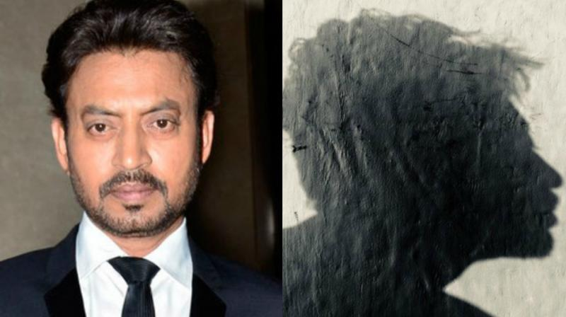 Irrfan Khan posted a picture of his shadow.