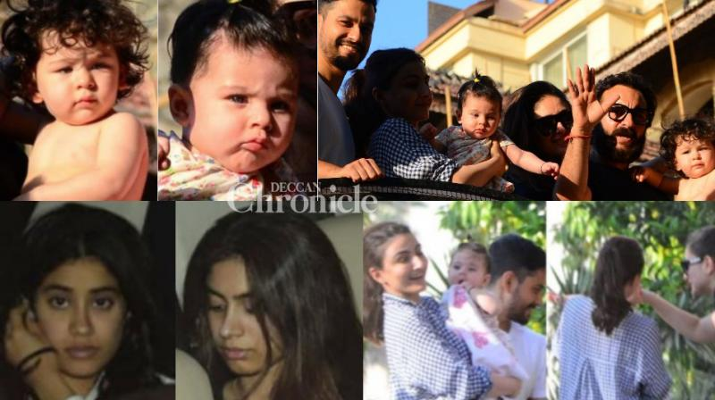 Bollywood stars were seen spending time their siblings and cousins in the city on Monday. (Photo: Viral Bhayani)