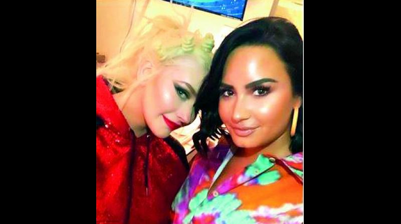 Christina Aguilera and Demi Lovato