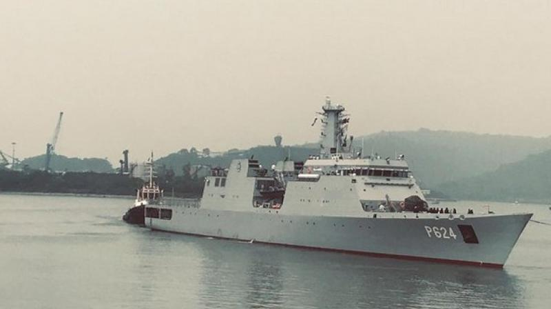 The two ships had left from Trincomalee in Sri Lanka for Visakhapatnam Port on Thursday. (Photo: Twitter)
