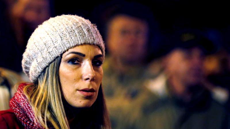Marija Lukic waits to speak during an anti-government protest in Belgrade, Serbia. (Photo: AP)