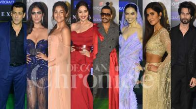 The 20th edition of International Indian Film Academy Awards (IIFA) has finally taken place on Wednesday night. The biggest award night of Bollywood was attended by many celebs like Salman Khan, Ranveer Singh, Shahid Kapoor, Deepika Padukone, Alia Bhatt, Madhuri Dixit, Vicky Kaushal, Malavika Mohanan, Katrina Kaif, Sara Ali Khan and others. (Photos: Viral Bhayani)