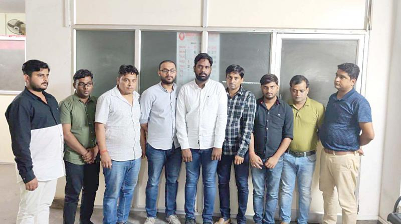The accused arrested by CCB sleuths.