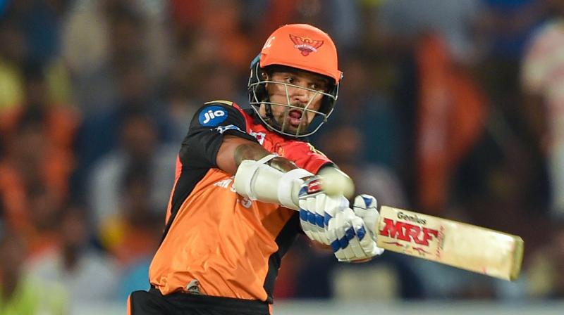 India's top-order batsman Shikhar Dhawan is set to be traded to Delhi Daredevils (DD) from Sunrisers Hyderabad (SRH) for the upcoming edition of the Indian Premier League (IPL). (Photo: PTI)