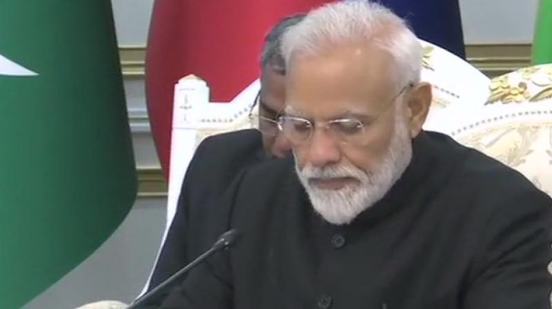 PM Narendra Modi attending the SCO summit in Bishkek. (Photo: ANI)