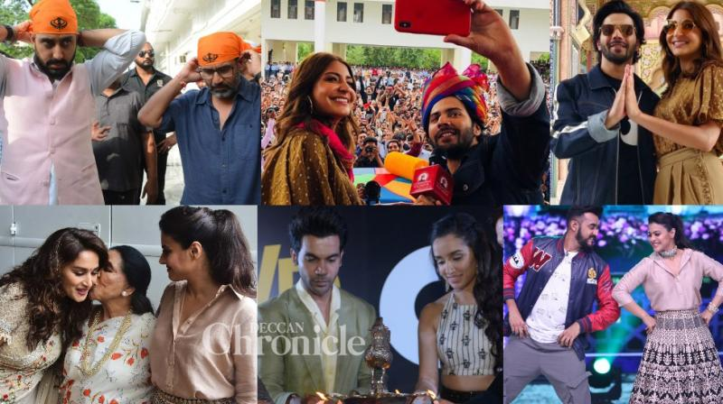 Bollywood stars were spotted in various parts of the country as they promoted their upcoming films. (Photos: Viral Bhayani/Twitter)