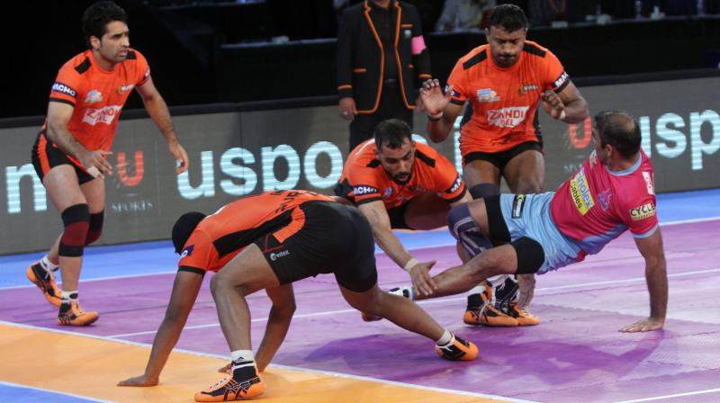 U Mumba who had a dominant home record heading into the game(14 wins out of 16) were outplayed by their counterparts. (Photo: Vivo Pro Kabaddi)