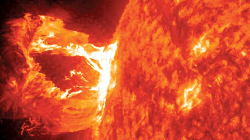 Coronal Mass Ejection in 2015 recorded by Nasa's solar dynamics observatory that ended up weakening earth's magnetic field. (Photo: DC)
