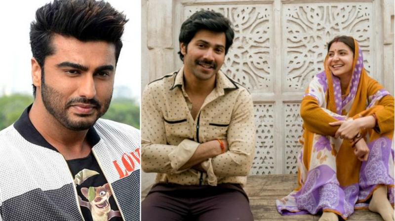 Arjun Kapoor in a photoshoot, Varun Dhawan and Anushka Sharma in 'Sui Dhaaga' look.