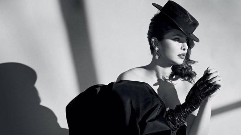 Priyanka Chopra in a magazine photoshoot.