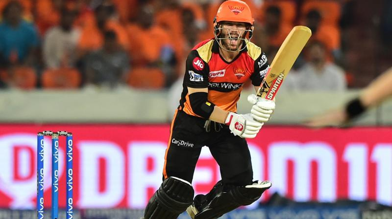 Warner has scored 400 runs in 7 matches in IPL 2019 for Sunrisers Hyderabad, with an impressive average of 80. (Photo: PTI)