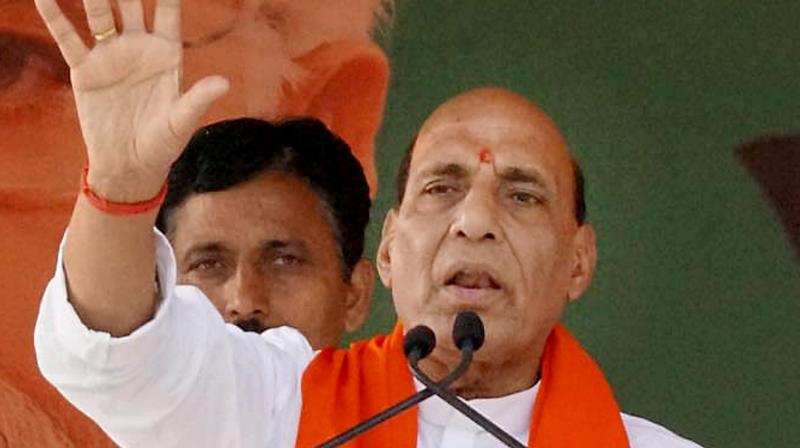 Union Home Minister Rajnath Singh on Monday addressed a public rally at Himachal Pradesh's Kunihar. (Photo: File)