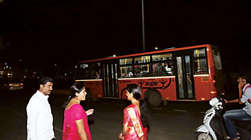 A file picture of Mayor Gangambike during night rounds