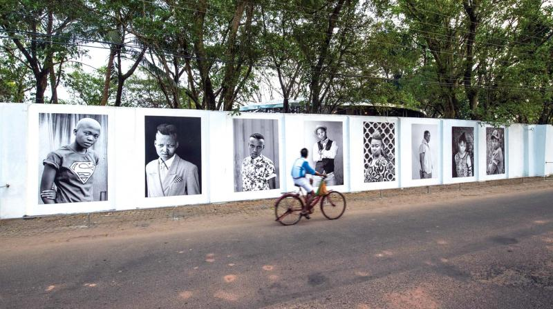 The portraits, in which Zanele's subjects seem to gaze into the camera with a stony expression, are part of the ongoing Kochi-Muziris Biennale.