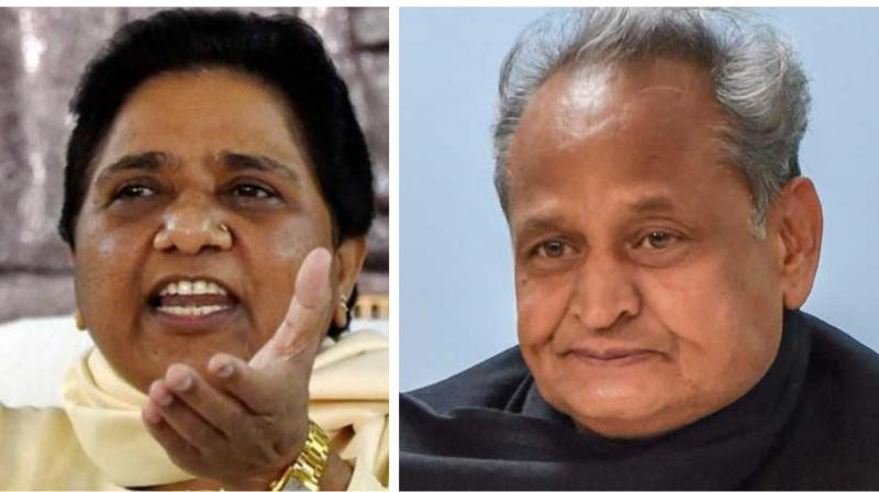 The MLAs, who had been in touch with state Chief Minister Ashok Gehlot, met Assembly Speaker CP Joshi and submitted a letter informing him about their decision to join the Congress. (Photo: PTI)