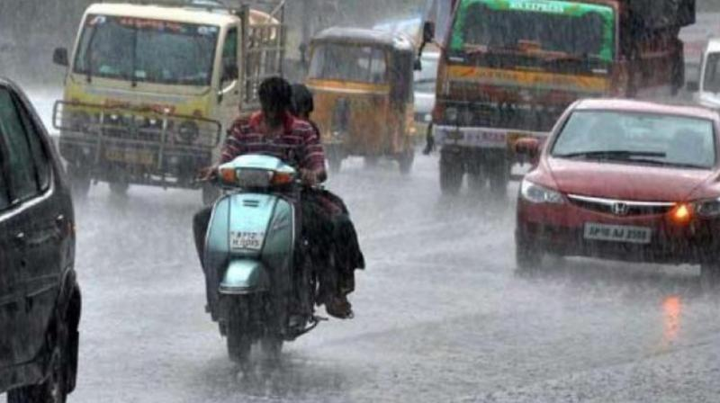 Average rainfall recorded up to 7.30 pm was 4.7 mm. Rains occurred due to high content of moisture in the atmosphere.   (Representational Image)