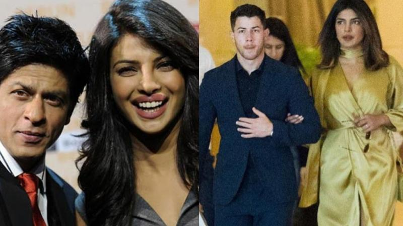 Shah Rukh Khan with Priyanka Chopra, actress with Nick Jonas.