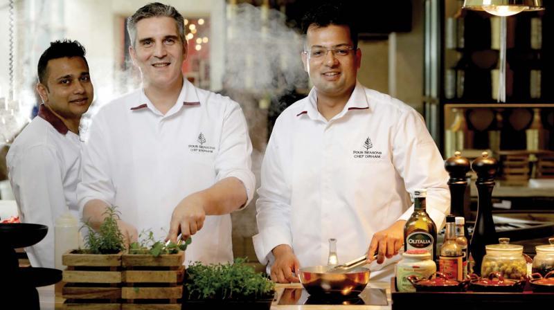 Chefs Vivekananda Saha, Stephane Calvet, Dirham Haque