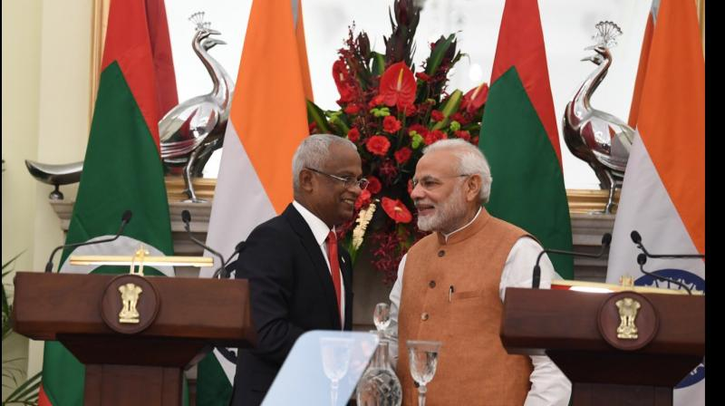 PM Modi had attended Maldives President Solih's swearing-in ceremony on November 17. (Photo: Twitter | @MEAIndia)