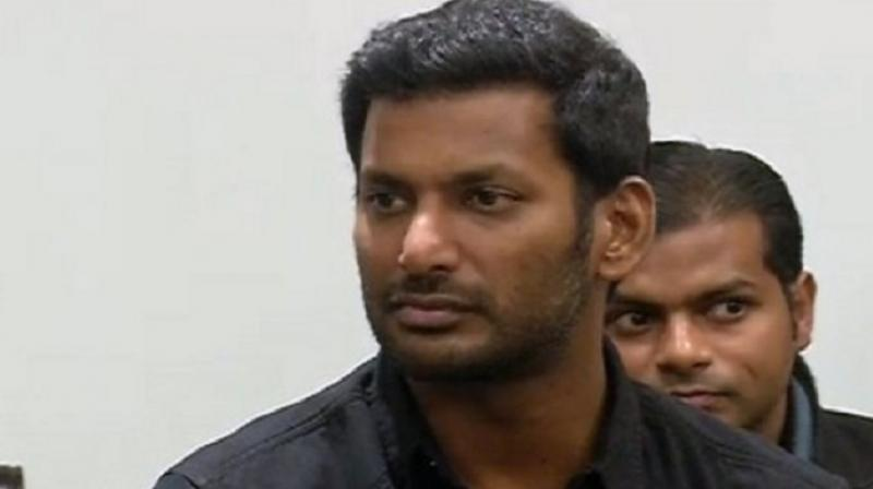 Actor Vishal.